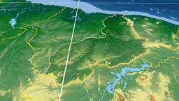 Piaui - Brazil Region Extruded. Set Of Animations stock footage