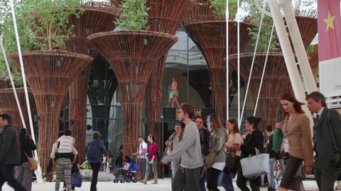 Vietnam Pavilion Milan Milano Expo 2015 Italy International Exposition Exhibitio stock footage
