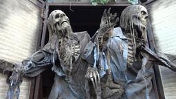 Ghost House - Greeting Skeletons - Loop Footage