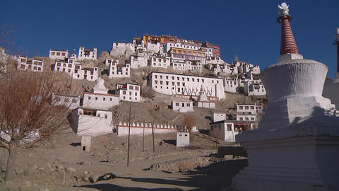 Thikse Monastery stock footage