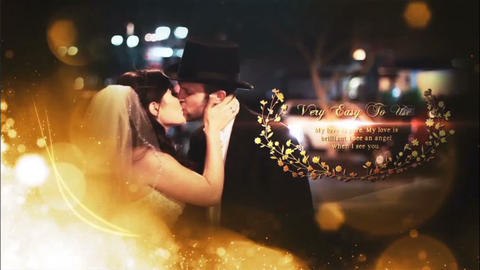 Flower Wedding Titles After Effects Template