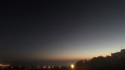 4K Sunset and moon setting with bright stars Footage