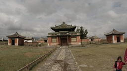 small ancient Buddhist temple complex of the general plan Footage