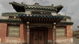 an ancient Buddhist temple in the old Mongolian monastery Footage