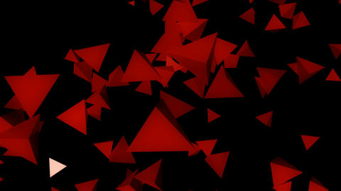red flying pyramid Animation