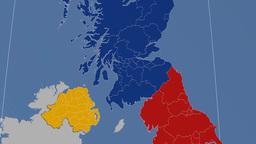 East Renfrewshire (United Kingdom). Solids stock footage