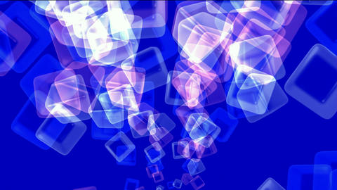 ice block,flying glass boxes and rays light,tech web... Stock Video Footage