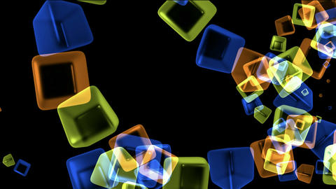 color crystal necklace,glass cubes shaped flower pattern... Stock Video Footage