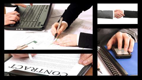 Agreement, Split Screen Stock Video Footage