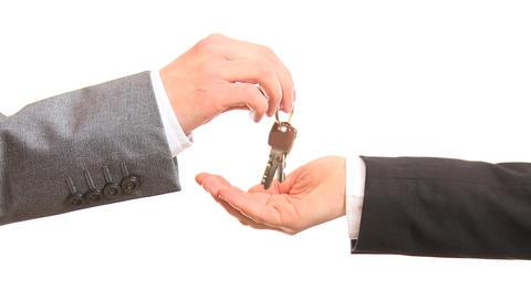 Giving keys Stock Video Footage