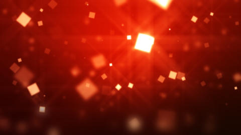 Red. background. Moving Particles Loop HD Animation