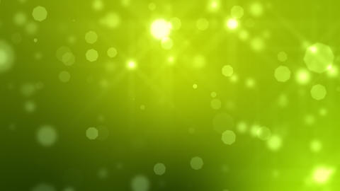 Moving Particles Loop. Green. HD Stock Video Footage