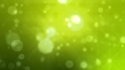 Moving Particles Loop. Green. HD Animation