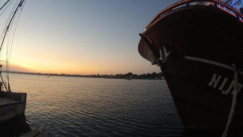 sea ship sunset Footage