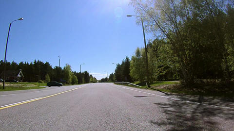 Driving on the Road Stock Video Footage