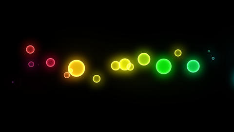 Neon LED Dot10 Ea1a HD Stock Video Footage