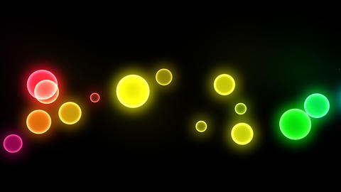 Neon LED Dot10 Ea4a HD Stock Video Footage