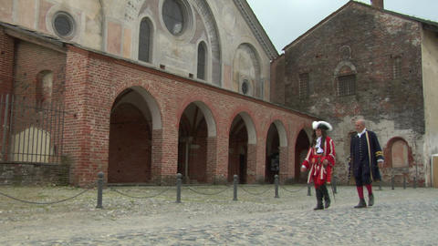 abbey soldier 02 Stock Video Footage
