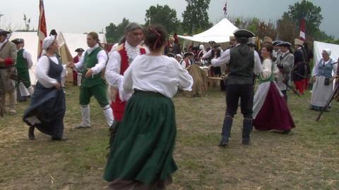 encampment dance 01A Stock Video Footage