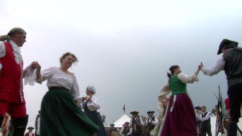 encampment dance 02A Stock Video Footage