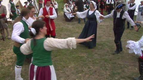 encampment dance 03 Stock Video Footage