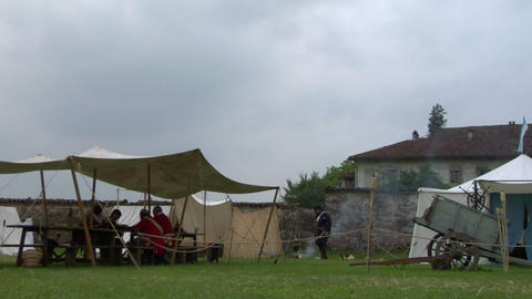 military encampment 01 Stock Video Footage