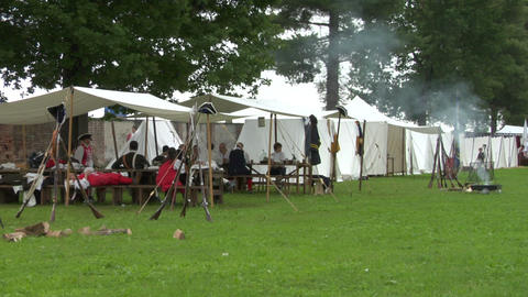 military encampment 03 Stock Video Footage