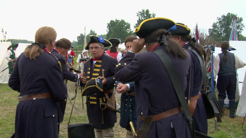 military encampment 05 Stock Video Footage