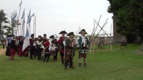 occitan infantry 01 Stock Video Footage