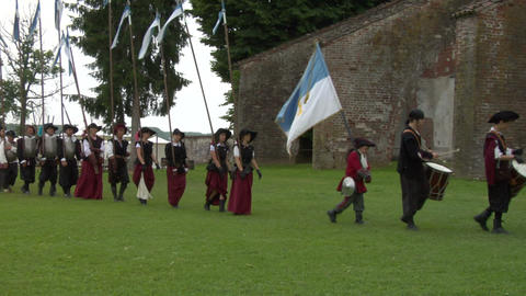 occitan infantry 03 Stock Video Footage
