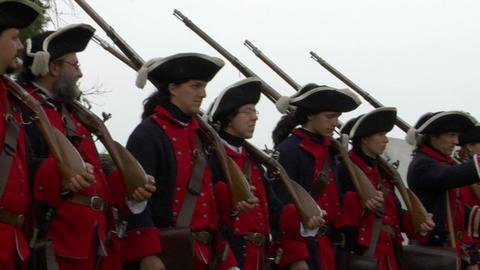 royal venaria guard 01 Stock Video Footage