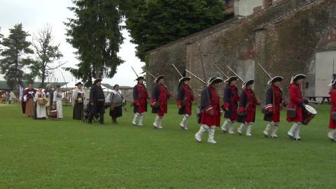 royal venaria guard 03 Stock Video Footage