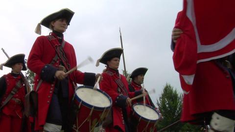 royal venaria guard 05 Stock Video Footage