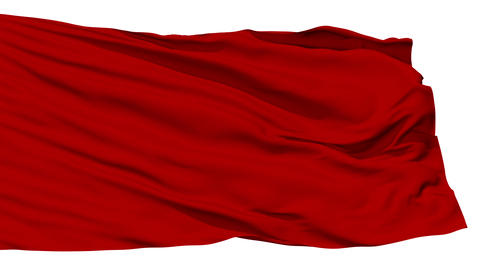 Waving red blank flag Stock Video Footage