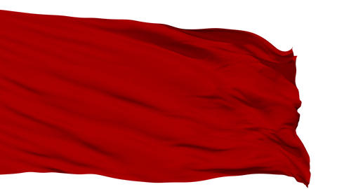 Waving red blank flag Animation