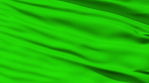 Waving green blank flag closeup Stock Video Footage