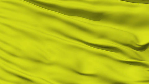 Waving yellow blank flag closeup Stock Video Footage