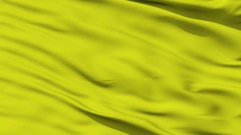 Waving yellow blank flag closeup Animation