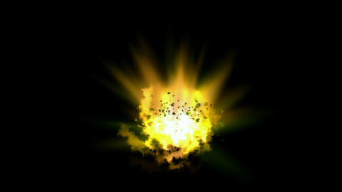 goldmine Explosion & dazzling fire light,birth of galaxy... Stock Video Footage