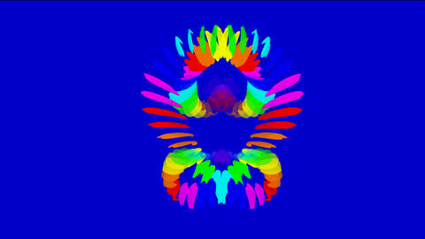 Buddhism lotus Mandala pattern,color peacock feather texture Animation