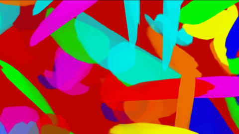 falling color feathers and paper debris Stock Video Footage
