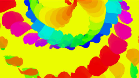 swirl feathers & petals shaped smooth silk ribbon Stock Video Footage