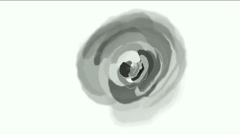 gray rose opening time lapse with smooth rotation Animation