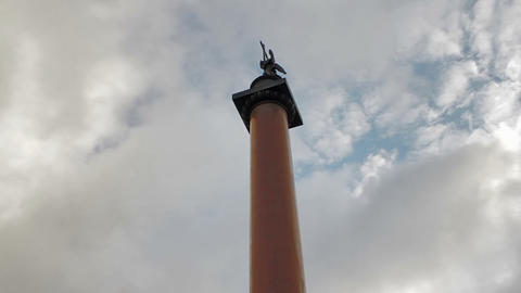 Statue of Alexander Column Stock Video Footage