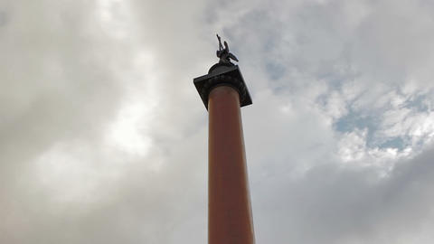 Statue of Alexander Column Footage