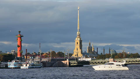 The Peter and Paul Fortress, Rostral Column and Pa Footage