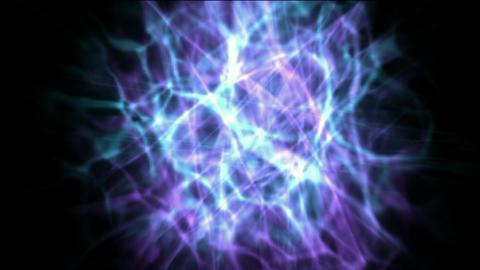 lightning magnetic field & energy fibre optic Animation