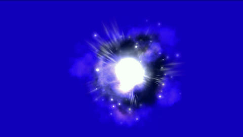 supernova explosion & Nebula in space background Stock Video Footage