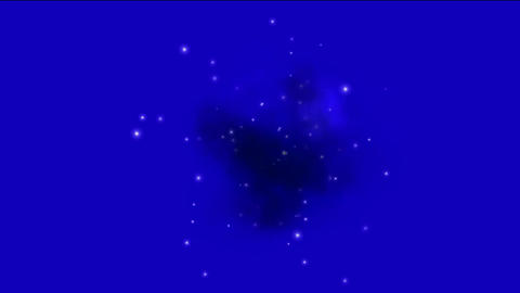 supernova explosion & Nebula in space background Animation