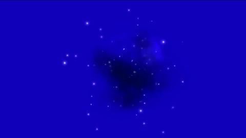 supernova explosion & Nebula in space background Animation